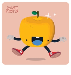 Orange character isolated vector