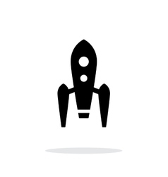 Long rocket simple icon on white background vector