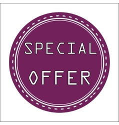 Special offer icon badge label or sticke vector