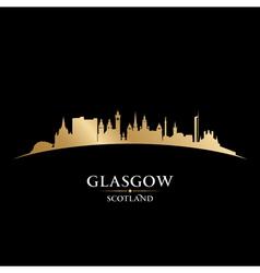 Glasgow scotland city skyline silhouette vector