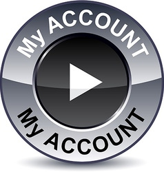 My account round button vector
