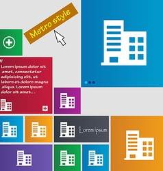 High-rise commercial buildings and residential vector