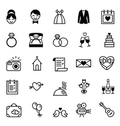Icons preparation for the wedding vector