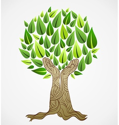 Green concept tree vector