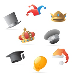 Icons for hats vector