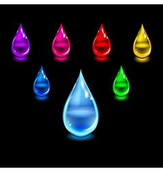 Glossy color drops vector