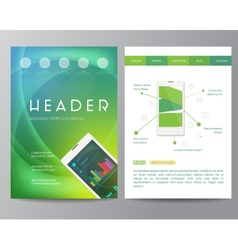 Booklet magazine poster flyer abstract banner vector
