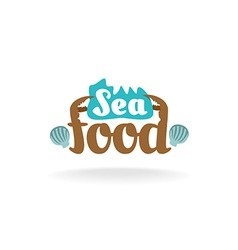 Seafood logo vector