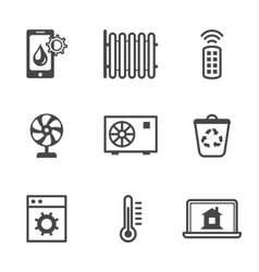 Smart home utilities security control icons vector