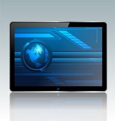 Modern pc tablet vector