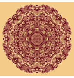 Circle ornament ornamental round lace vector