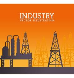 Industry design over orange background vector