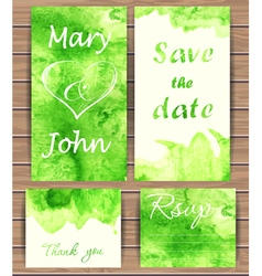 Wedding card templates vector