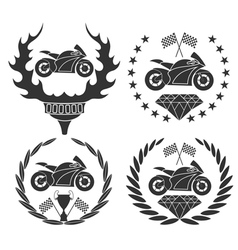 Motorcycle sports vector