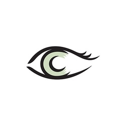 Human eye logo smooth lines style vector