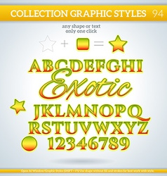Exotic graphic styles for design use for decor vector