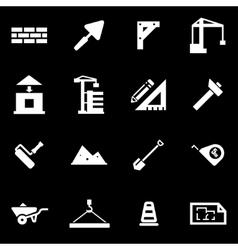 White construction icon set vector