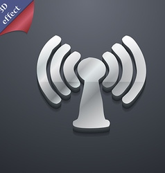 Wi-fi internet icon symbol 3d style trendy modern vector