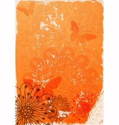 Grunge orange paper vector