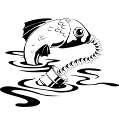 Fish in gas mask vector