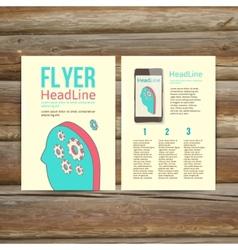 Abstract brochure flyer design human head with vector