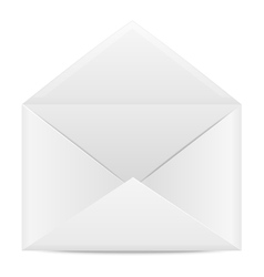 Blank paper envelope for letters vector