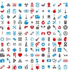 Medical icons set set of 144 medical and medicine vector
