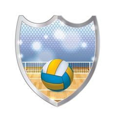 Volleyball badge emblem vector