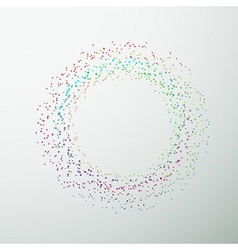 Circular bright colorful design element vector