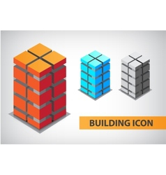Set of colorful 3d office building vector