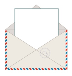 Envelope with blank letter vector
