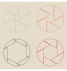 Set of shutter icon vector