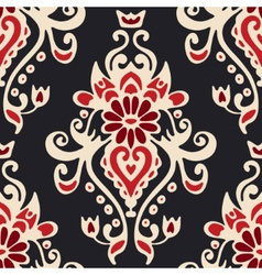 Luxury damask seamles tiled motif pattern vector