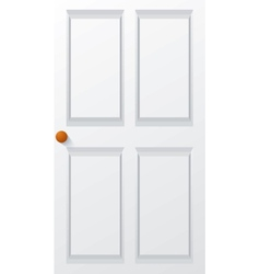 Modern white door vector