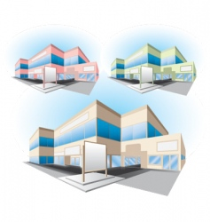 Shopping center building vector