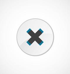 Close icon 2 colored vector