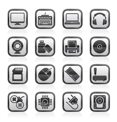 Computer peripherals and accessories icons vector