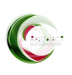 Green swirl line abstract background vector