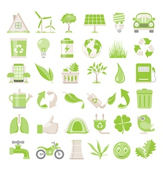 Flat icons environmental conservation vector