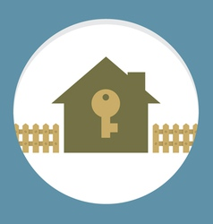 Home with key property concept card vector