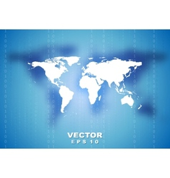 Abstract tech world map background vector