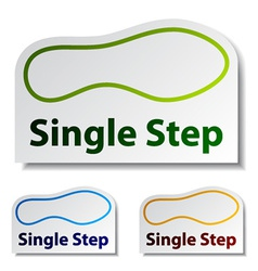 Imprint single step stickers vector