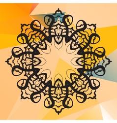 India mandala  geometric circle element vector