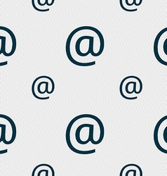 E-mail icon sign seamless pattern with geometric vector