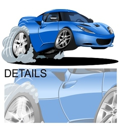Cartoon sportcar vector