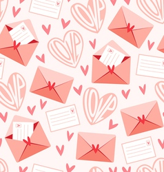Love letters pattern vector