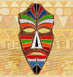 Ethnic mask on vintage background vector
