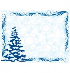 Winter frame vector