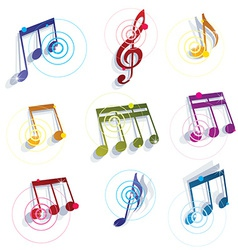 Musical notes icons set vector