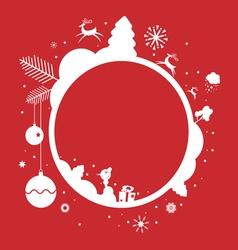Holiday frame design vector